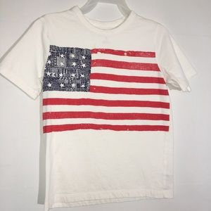 Boys Short Sleeve American Flag Shirt